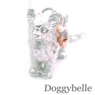 ( 4月誕生石 ) SV K10ダイヤモンドネックレス(チワワ) 犬