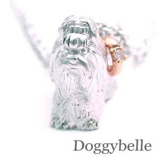( 4月誕生石 ) SV K10ダイヤモンドネックレス(シーズー) 犬