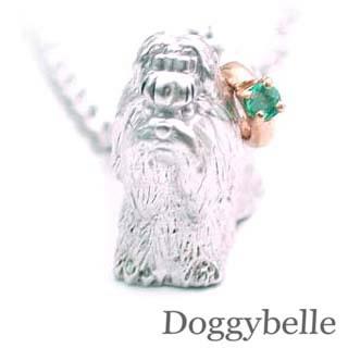 ( 5月誕生石 ) プラチナ K10エメラルドネックレス(シーズー) 犬