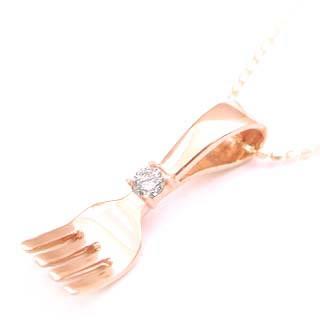 ( 4月誕生石 ) K18PGダイヤモンドネックレス 【DEAL】