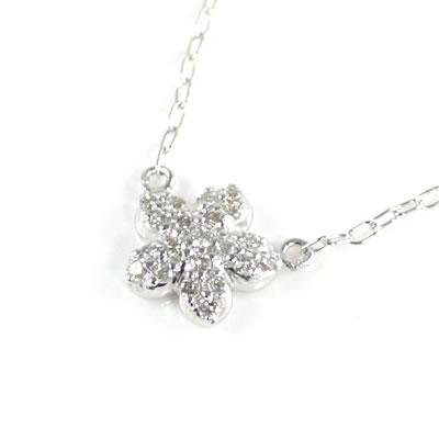 ( Brand Jewelry me. ) K10ホワイトゴールド ダイヤモンドペンダントネックレス(スターモチーフ)