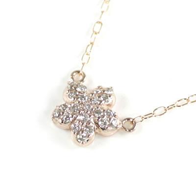 ( Brand Jewelry me. ) K10ピンクゴールド ダイヤモンドペンダントネックレス(スターモチーフ)