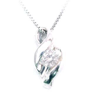 ネックレス メンズ ( 4月誕生石 ) K18WG ダイヤモンドネックレス