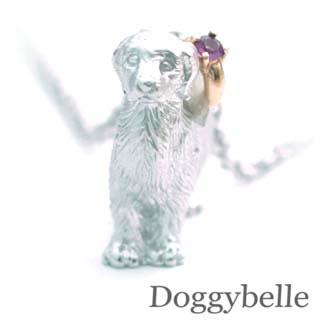 ( 2月誕生石 ) プラチナ K10アメジストネックレス(ゴールデンレトリバー) 犬