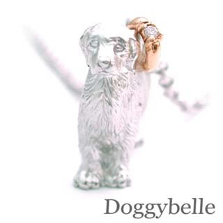 ( 4月誕生石 ) プラチナ K10ダイヤモンドネックレス(ゴールデンレトリバー) 犬