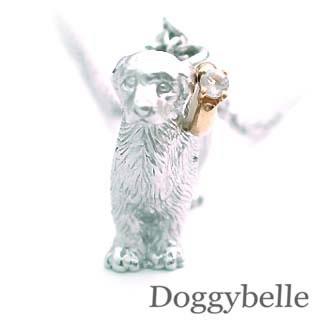 ( 6月誕生石 ) プラチナ K10ムーンストーンネックレス(ゴールデンレトリバー) 犬