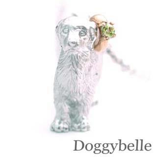 ( 8月誕生石 ) プラチナ K10ペリドットネックレス(ゴールデンレトリバー) 犬