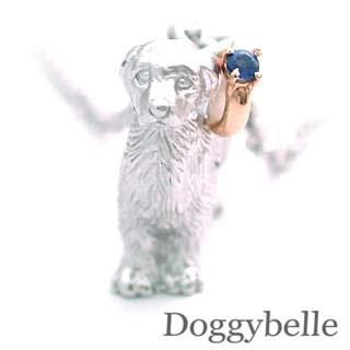 ( 9月誕生石 ) プラチナ K10サファイアネックレス(ゴールデンレトリバー) 犬