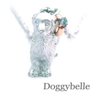 ( 11月誕生石 ) プラチナ K10ブルートパーズネックレス(ゴールデンレトリバー) 犬
