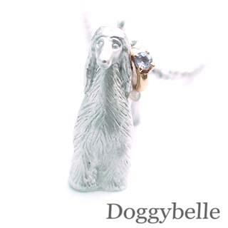 ( 12月誕生石 ) プラチナ K10タンザナイトネックレス(アフガンハウンド) 犬