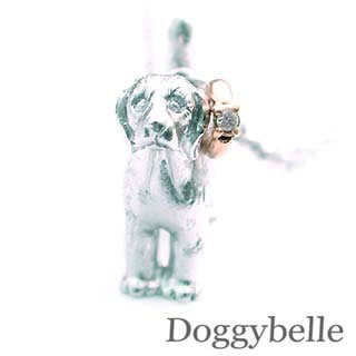 ( 4月誕生石 ) プラチナ K10ダイヤモンドネックレス(ビーグル) 犬