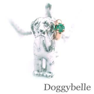 ( 5月誕生石 ) プラチナ K10エメラルドネックレス(ビーグル) 犬