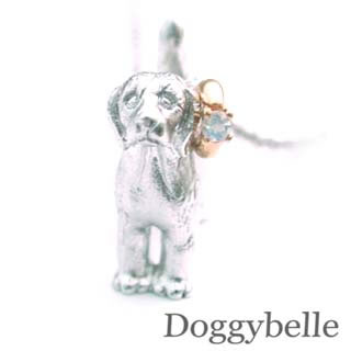 ( 6月誕生石 ) プラチナ K10ムーンストーンネックレス(ビーグル) 犬