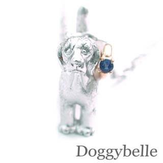 ( 9月誕生石 ) SV K10サファイアネックレス(ビーグル) 犬