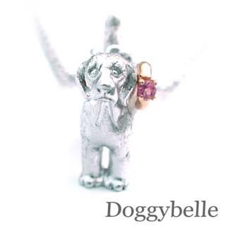 ( 10月誕生石 ) プラチナ K10ピンクトルマリンネックレス(ビーグル) 犬
