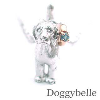 ( 11月誕生石 ) プラチナ K10ブルートパーズネックレス(ビーグル) 犬