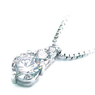 ( 4月誕生石 ) Pt ダイヤモンドネックレス