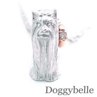 ( 4月誕生石 ) SV K10ダイヤモンドネックレス(ヨークシャーテリア) 犬