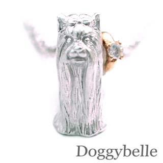 ( 6月誕生石 ) プラチナ K10ムーンストーンネックレス(ヨークシャーテリア) 犬
