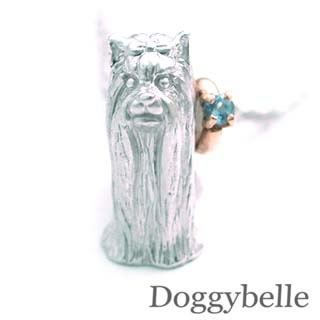 ( 11月誕生石 ) プラチナ K10ブルートパーズネックレス(ヨークシャーテリア) 犬