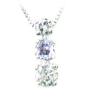 ネックレス メンズ タンザナイト ( 12月誕生石 ) K18WG タンザナイトネックレス