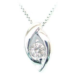 ( 4月誕生石 ) K18WG ダイヤモンドネックレス