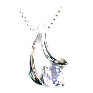 ネックレス メンズ タンザナイト ( 12月誕生石 ) K18WG タンザナイトネックレス 末広 スーパーSALE