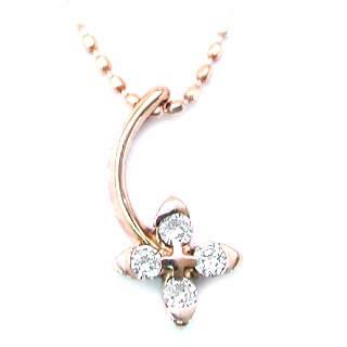 K18PGダイヤモンドペンダントネックレス