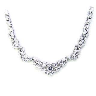 ( Brand Jewelry ASPIRARE ) Pt ダイヤモンドネックレス