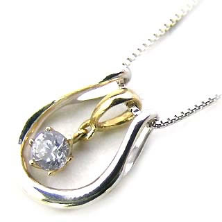 ネックレス メンズ ( 4月誕生石 ) K18WG・K18 ダイヤモンドペンダント(馬蹄モチーフ) 末広 スーパーSALE【今だけ代引手数料無料】