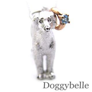 ( 11月誕生石 ) プラチナ K10ブルートパーズペンダントネックレス(サルーキー) 犬