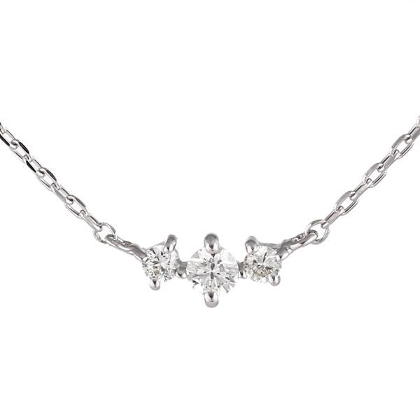 ダイヤモンド ホワイトゴールド ネックレス レディース 人気 プレゼント【DEAL】 末広 スーパーSALE