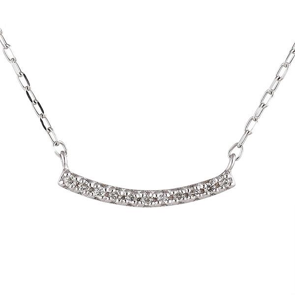 ダイヤモンド ホワイトゴールド ネックレス レディース 人気 プレゼント 末広 スーパーSALE