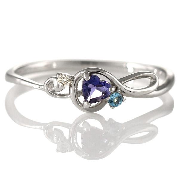 ダイヤモンド アイオライト リング 指輪 人気 レディース プレゼント ホワイトゴールド ト音記号