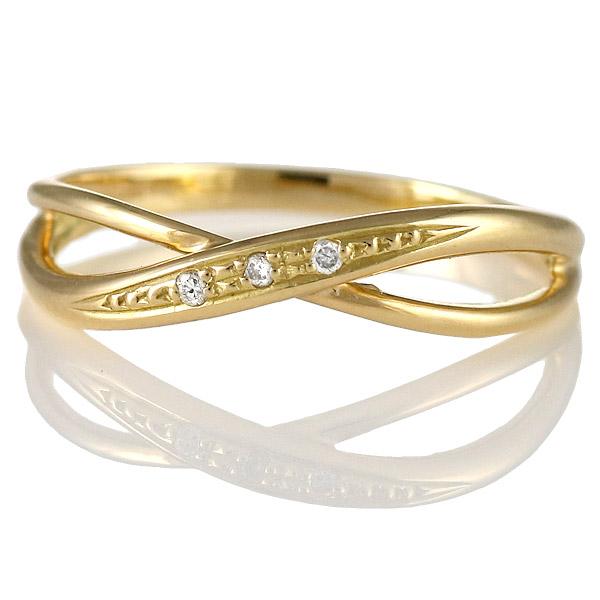 ダイヤモンド リング 指輪 人気 レディース プレゼント イエローゴールド