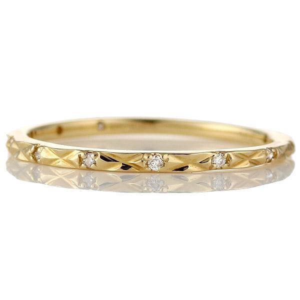 リング ダイヤモンド K18 イエローゴールド 18金 ダイヤ プレゼント
