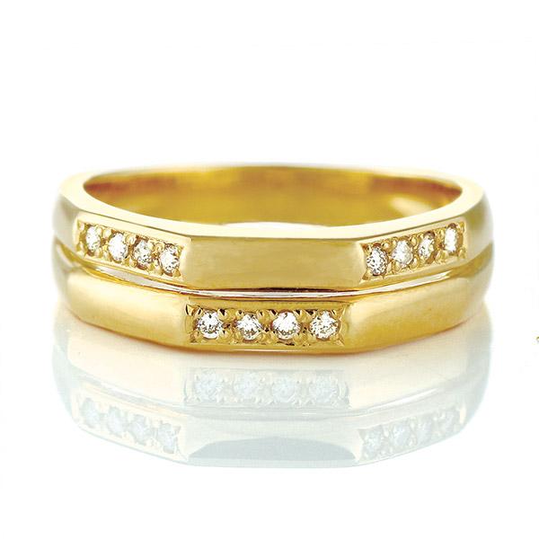 【今だけエントリーで全品5倍!5/18まで限定!】リング ダイヤモンド K18 イエローゴールド 18金 ダイヤ