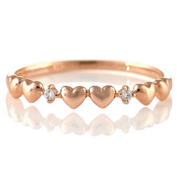 ダイヤモンドリング 指輪 人気 レディース プレゼント ピンクゴールド ハート