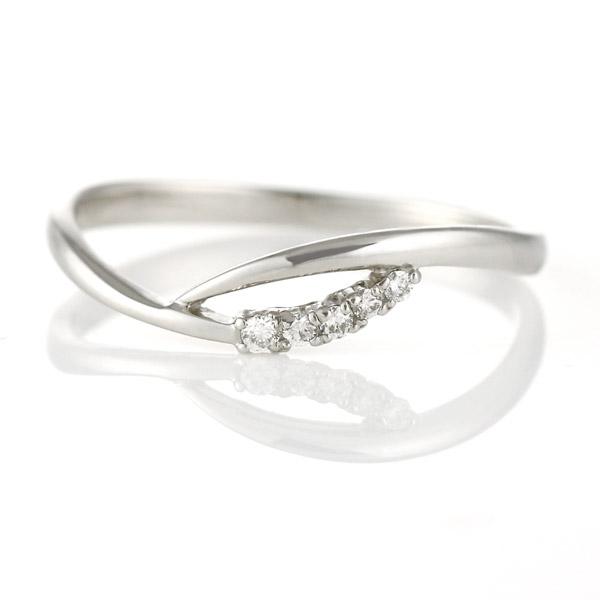 リング ダイヤモンド プラチナ ダイヤ シンプル 一粒 人気 ウェーブ