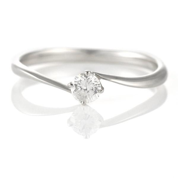リング ダイヤモンド プラチナ ダイヤ シンプル 人気 一粒 ウェーブ 末広 スーパーSALE