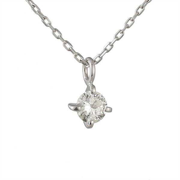 ネックレス ダイヤモンド フープ K18ホワイトゴールド シンプル 人気 プレゼント ダイヤ【DEAL】