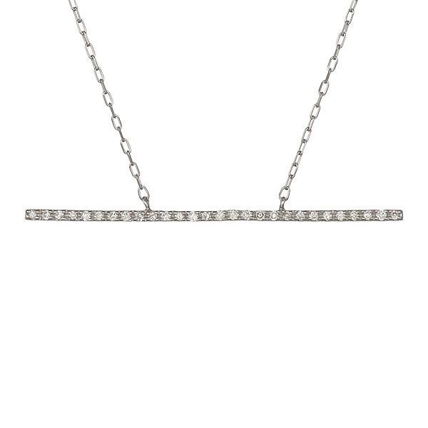 ネックレス K18ホワイトゴールド ダイヤモンド レディース 人気 プレゼント