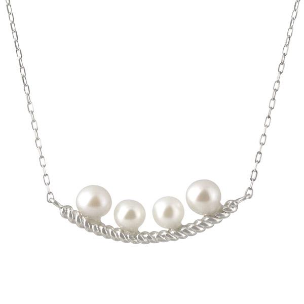 ネックレス K18ホワイトゴールド パール レディース 人気 真珠 プレゼント