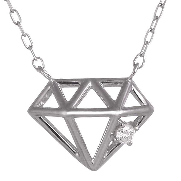 ネックレス ダイヤモンド K10ホワイトゴールド ダイヤモンド モチーフ プレゼント 人気