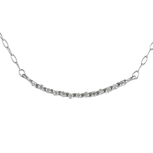 ネックレス ダイヤモンド K10 ホワイトゴールド 10金 人気 シンプル 末広 スーパーSALE