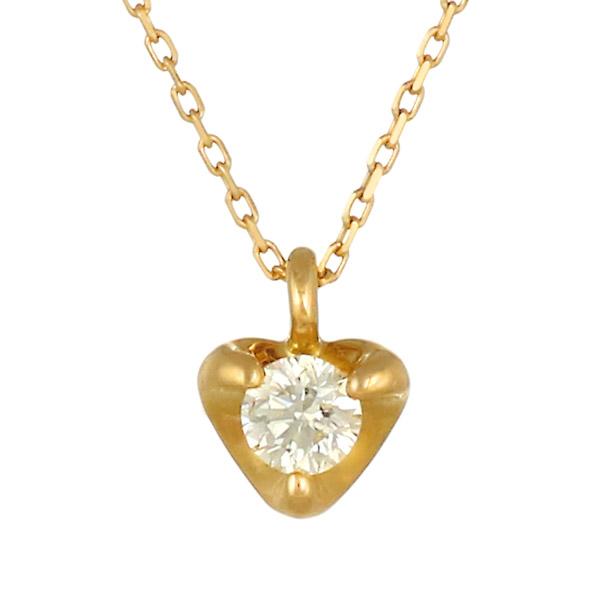 ネックレス K18 ダイヤモンド 一粒 シンプル レディース 人気 ダイヤ プレゼント