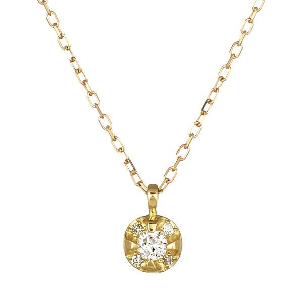 ネックレス ダイヤモンド K18 シンプル プレゼント【DEAL】
