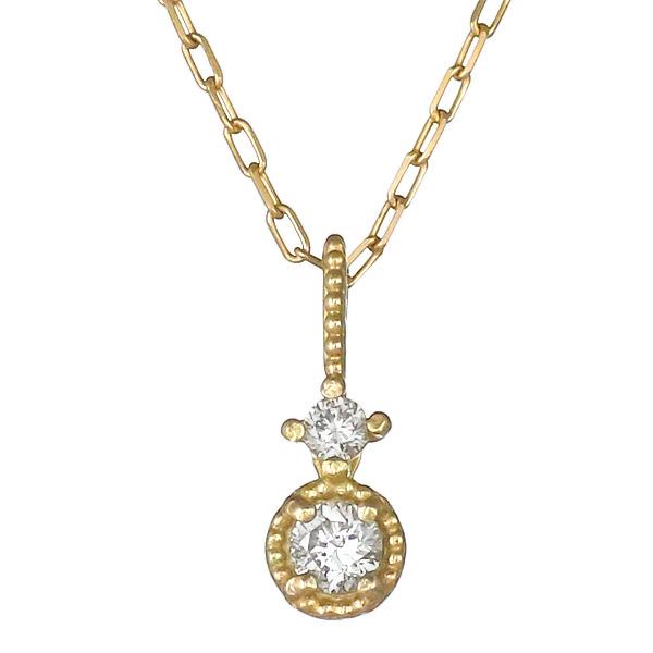 ネックレス ダイヤモンド シンプル K10イエローゴールド プレゼント