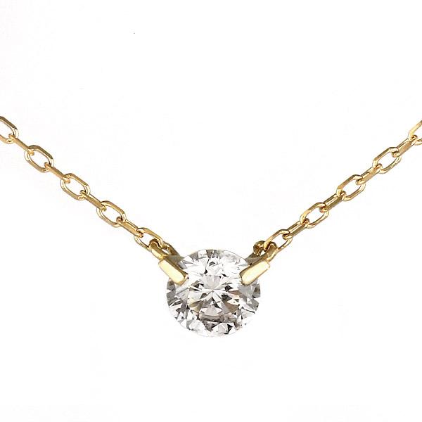 ネックレス 18金 K18 18k イエローゴールド ダイヤモンド