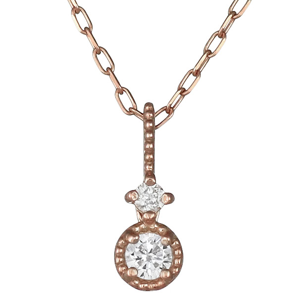 ネックレス ダイヤモンド シンプル K10ピンクゴールド プレゼント